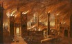 painting; oil on canvas - The Great Fire of London, 1666