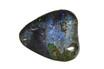 gemstone; malachite azurite - Heart-shaped cabochon of malachite azurite