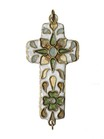 pendant; cross - Enamelled pendant cross