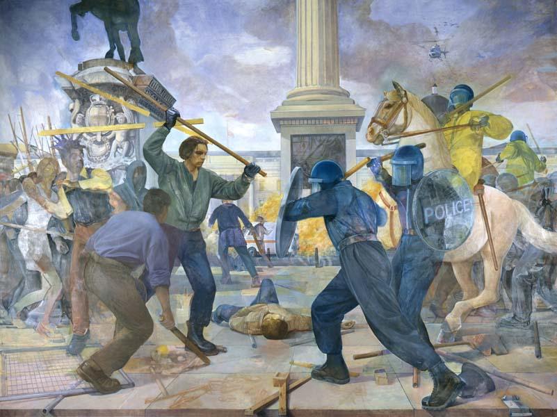 Représentation des émeutes par Bartlett au Museum of London