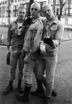 photograph; silver gelatin print - Skinheads posing in Wellington Square, Chelsea
