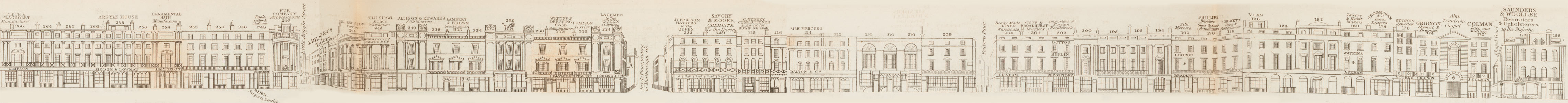 map - Tallis's London street views : No. 4. Regent Street, division 2 (east)