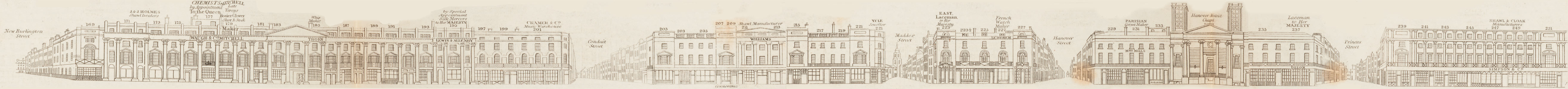map - Tallis's London street views : No. 4. Regent Street, division 2 (west)