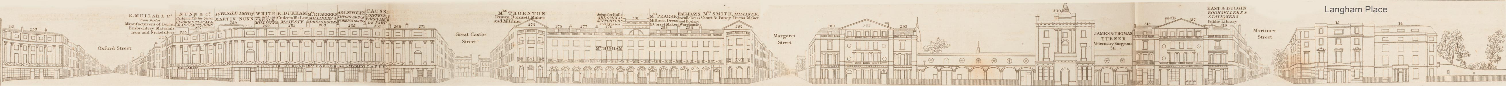 map - Tallis's London street views : No. 16. Regent Street, division 1 (west)