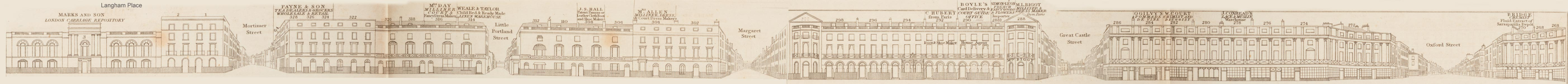 map - Tallis's London street views : No. 16. Regent Street, division 1 (east)
