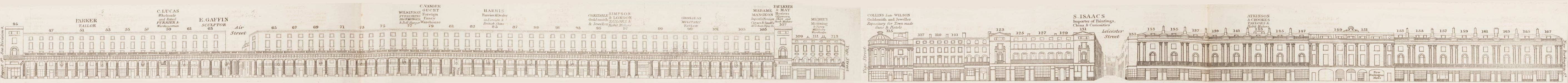 map - Tallis's London street views : No. 12. Regent Street, division 3 (west)