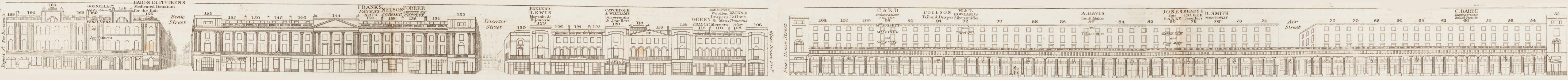 map - Tallis's London street views : No. 12. Regent Street, division 3 (east)
