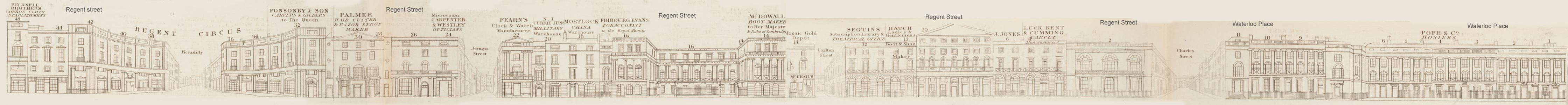 map - Tallis's London street views : No. 17. Regent Street, division 4 (east)