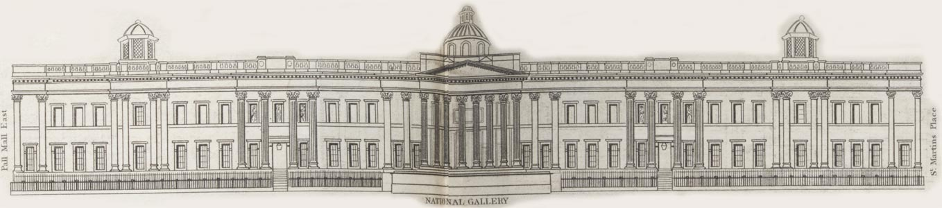 map - Tallis's London street views : No. 76. Trafalgar Square (north)