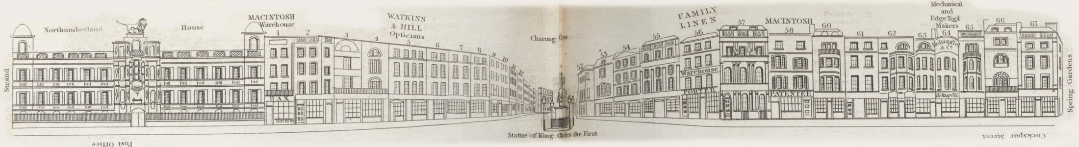 map - Tallis's London street views : No. 76. Trafalgar Square (south)