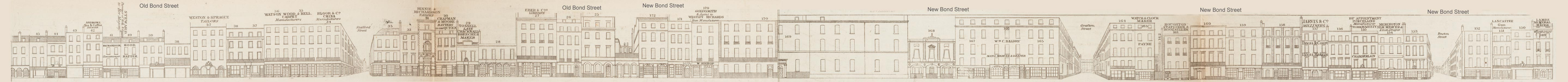 map - Tallis's London street views : No. 7. Bond Street, division 1 (west)