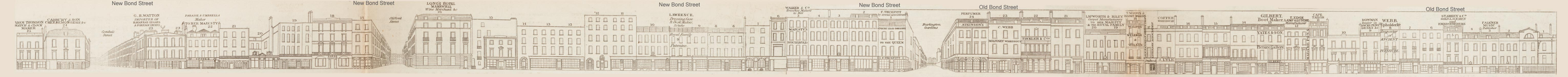 map - Tallis's London street views : No. 7. Bond Street, division 1 (east)
