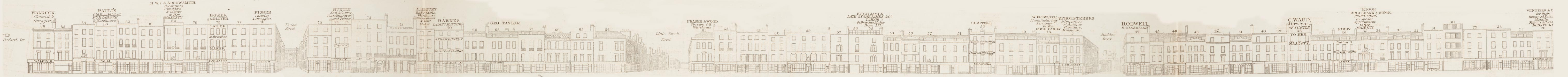map - Tallis's London street views : No. 9. New Bond Street, division 2 (east)