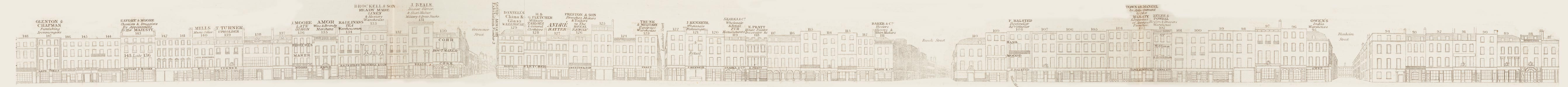 map - Tallis's London street views : No. 9. New Bond Street, division 2 (west)