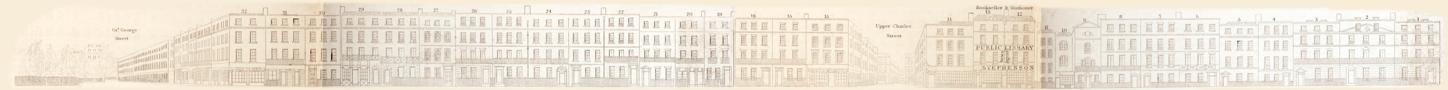 map - Tallis's London street views : No. 73. Parliament Street (west)