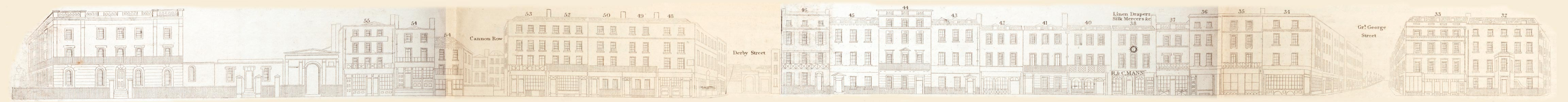 map - Tallis's London street views : No. 73. Parliament Street (east)