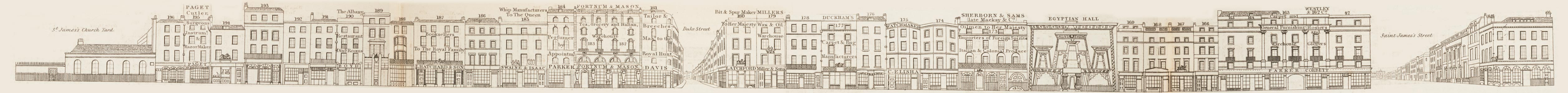 map - Tallis's London street views : No. 23. Piccadilly, division 2 (south)