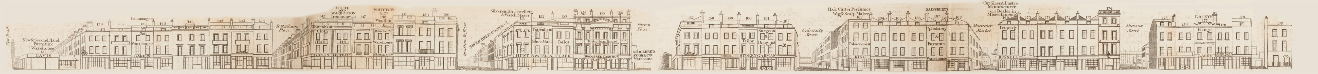 map - Tallis's London street views : No. 49. Tottenham Court Road, division 1 (west)