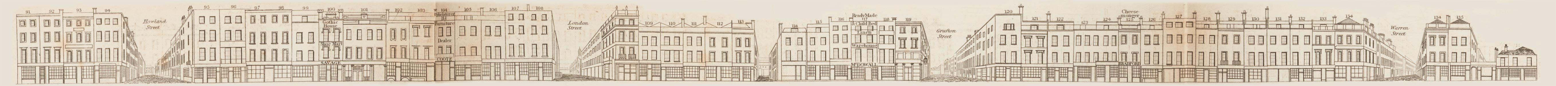 map - Tallis's London street views : No. 49. Tottenham Court Road, division 1 (east)