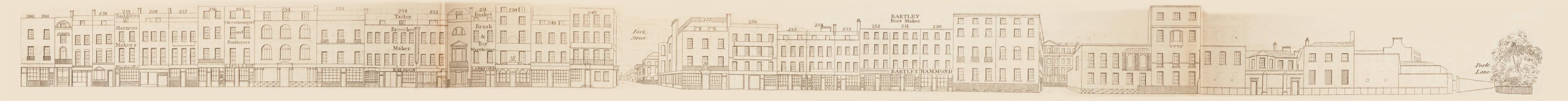 map - Tallis's London street views : No. 72. Oxford Street, division 6 (south)