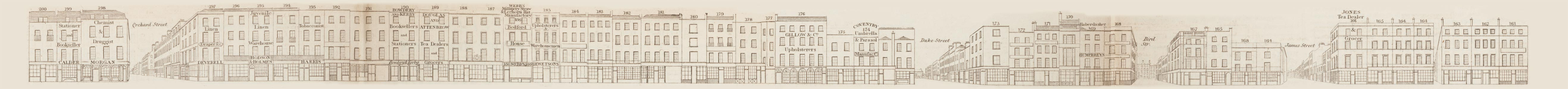 map - Tallis's London street views : No. 48. Oxford Street, division 5 (north)