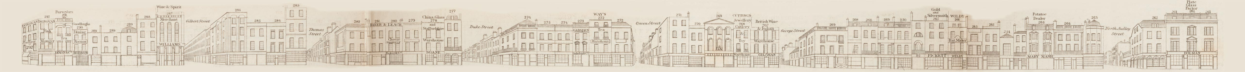 map - Tallis's London street views : No. 48. Oxford Street, division 5 (south)