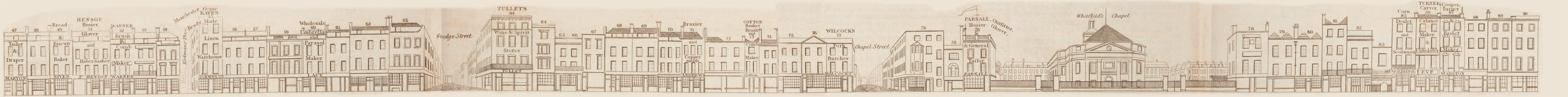 map - Tallis's London street views : No. 52. Tottenham Court Road, division 2 (west)