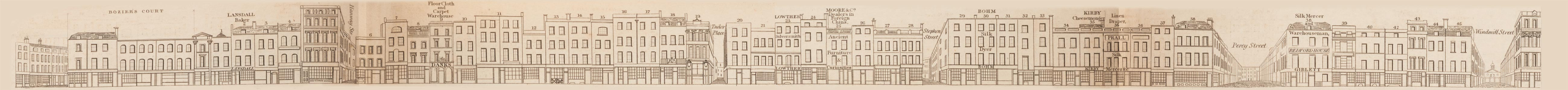 map - Tallis's London street views : No. 53. Tottenham Court Road, division 3 (west)