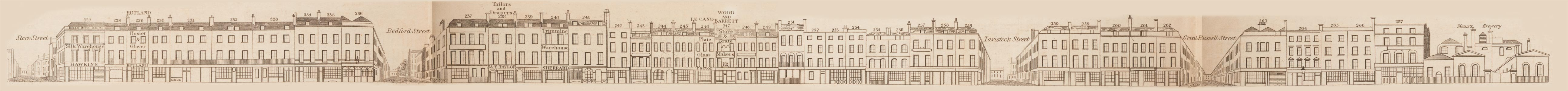 map - Tallis's London street views : No. 53. Tottenham Court Road, division 3 (east)