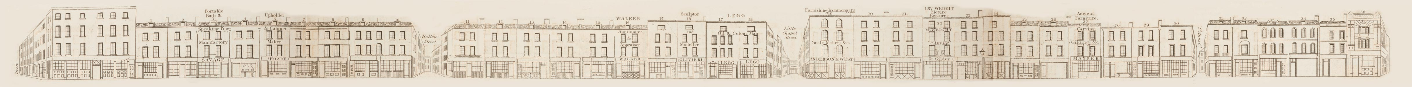 map - Tallis's London street views : No. 62. Wardour Street, division 1 (east)