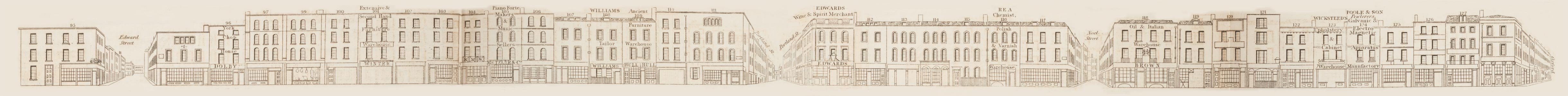 map - Tallis's London street views : No. 62. Wardour Street, division 1 (west)