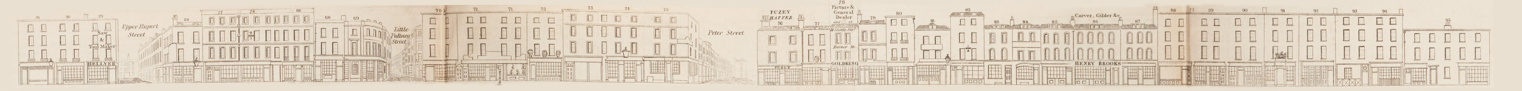 map - Tallis's London street views : No. 63. Wardour Street, division 2 (west)