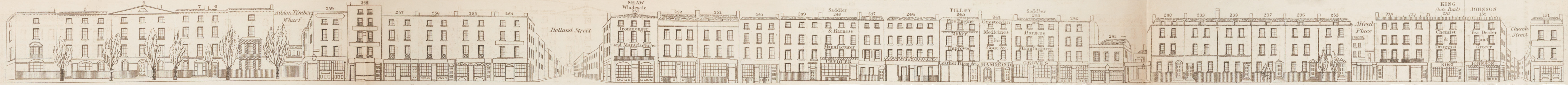 map - Tallis's London street views : No. 57. Blackfriars Road, division 1 (east)