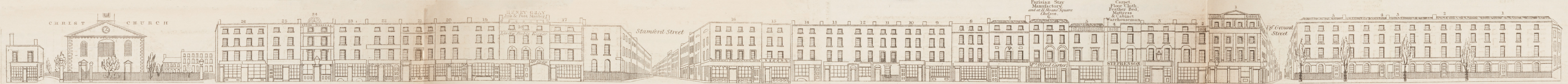map - Tallis's London street views : No. 57. Blackfriars Road, division 1 (west)