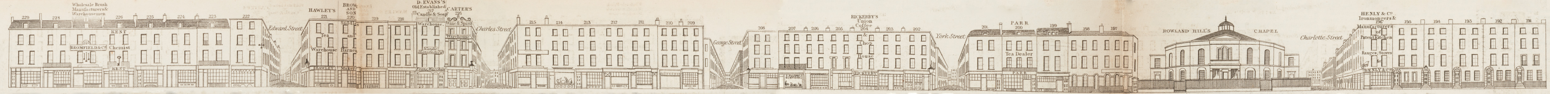 map - Tallis's London street views : No. 58. Blackfriars Road, division 2 (east)