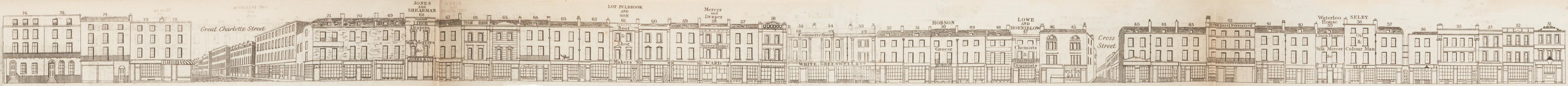 map - Tallis's London street views : No. 58. Blackfriars Road, division 2 (west)