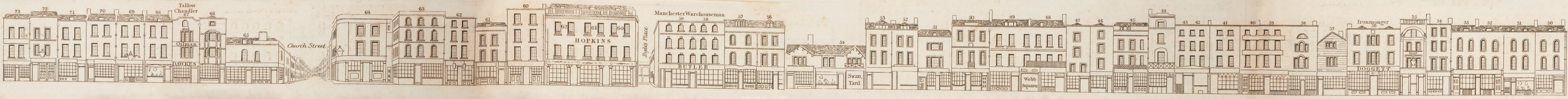 map - Tallis's London street views : No. 59. Shoreditch, division 2 (east)