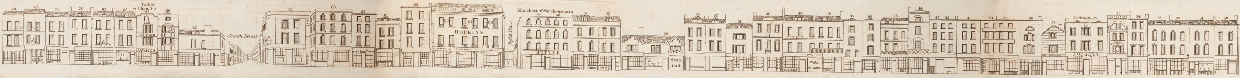map - Tallis's London street views : No. 59. Shoreditch, division 2 (east)