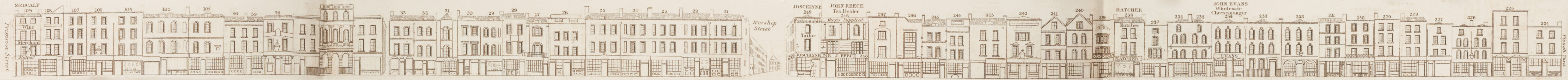 map - Tallis's London street views : No. 60. Norton Folgate and Shoreditch, division 1 (west)