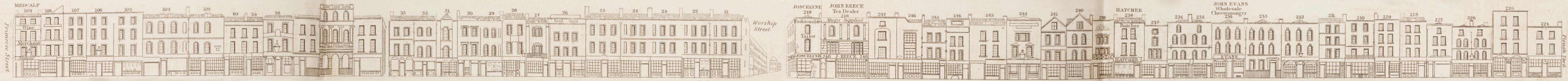 map - Tallis's London street views : No. 60. Norton Folgate and Shoreditch, division 1 (west)