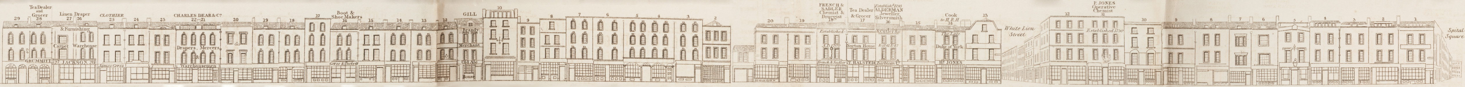 map - Tallis's London street views : No. 60. Norton Folgate and Shoreditch, division 1 (east)