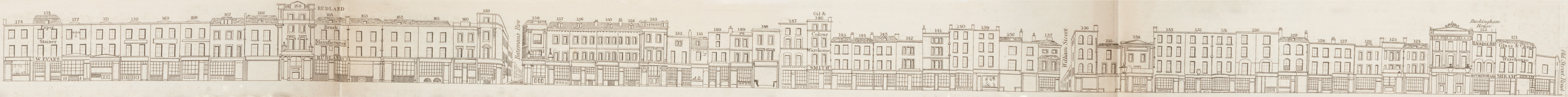 map - Tallis's London street views : No. 61. Shoreditch, division 3 (west)