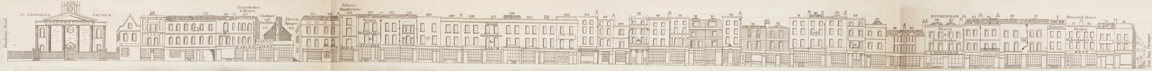 map - Tallis's London street views : No. 61. Shoreditch, division 3 (east)