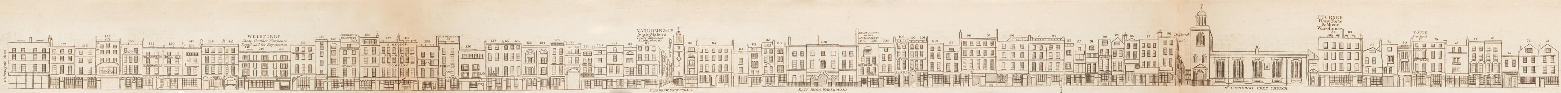 map - Tallis's London street views : No. 2. Leadenhall Street (north)