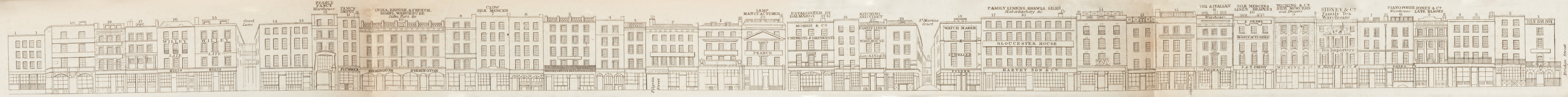 map - Tallis's London street views : No. 6. Ludgate Hill and Ludgate Street (south)