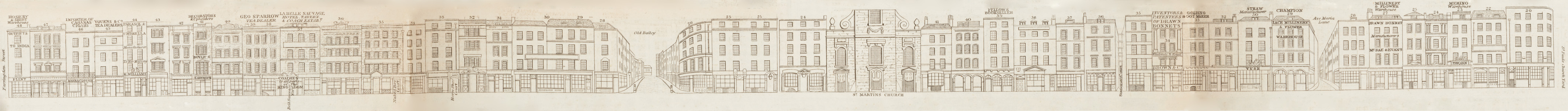 map - Tallis's London street views : No. 6. Ludgate Hill and Ludgate Street (north)